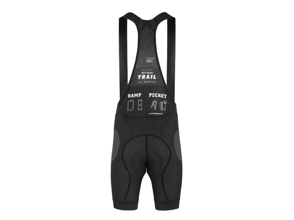 Assos Trail Liner Bib Shorts - MTB indershort m. pude - Sort - Str. TIR
