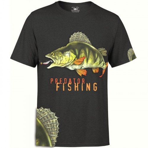 Fladen Greedy Perch T-Shirt Sort