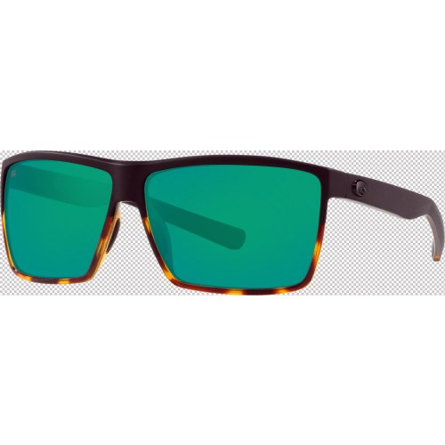 Costa Rincon 580G Matte Black-Shiny Tortuise/Green Mirror
