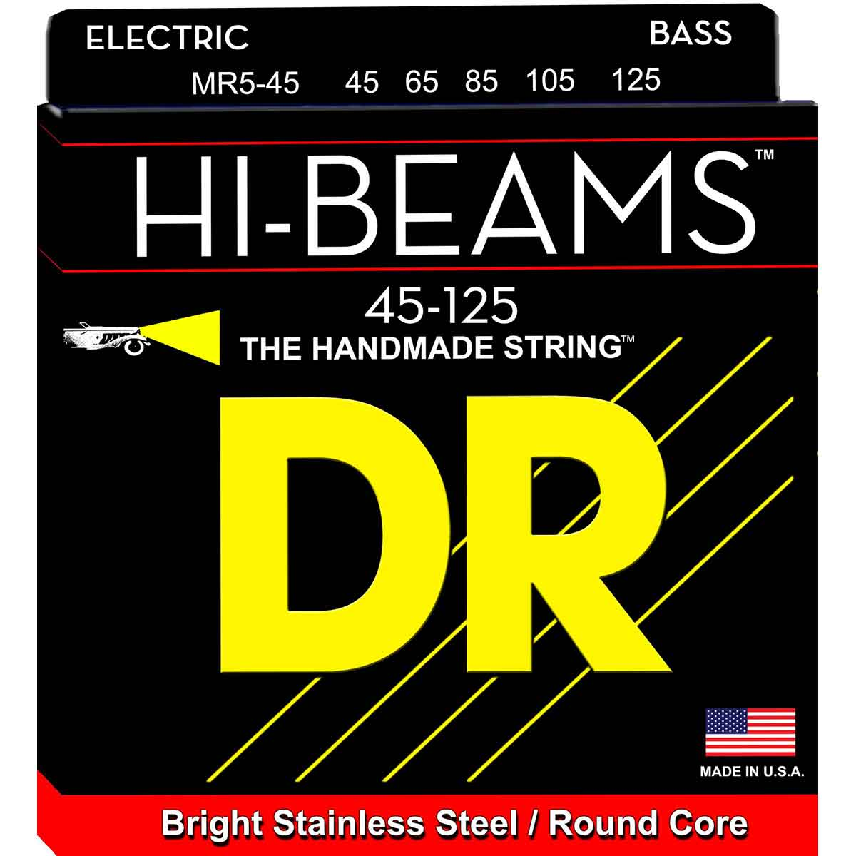 DR Strings MR5-45 Hi-Beam 5-strenget bas-strenge, 045-0125